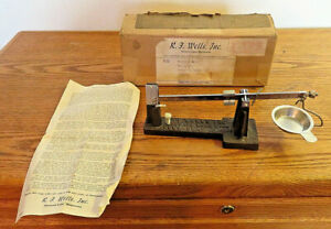 Vintage R F Wells Inc Howard Lake Minn Lock Beam Scale Gold Silver Weight