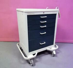 Armstrong A smart 5 Dwr Emergency Code Crash Cart Medical Surgical Cabinet Stand