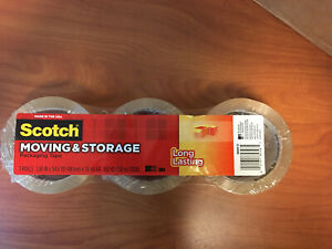 Scotch Long lasting Storage Packaging Tape 1 88inx 54 6 Yd Pack Of 3 Rolls