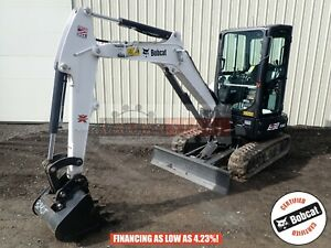 2019 Bobcat E32i Mini Excavator Cab Heat ac Aux Hyd 2 Speed 6 Hours 25 Hp Kubota