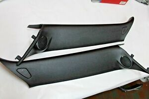 07 15 Mini Cooper S R56 R55 R57 Interior Upper A Pillar Trim Panels Black Set