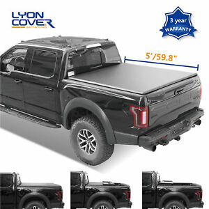 Tonneau Cover Soft Tri Fold Truck Bed For 2016 2020 Toyota Tacoma 5 59 8 60 5