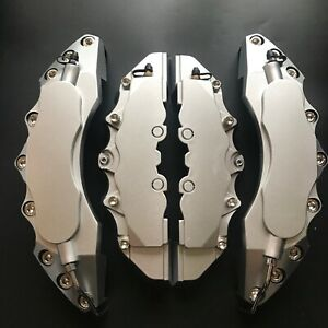 Engineering Plastic Brake Caliper Covers 11 F 9 R 4pcs Sliver For Bmw Amg Audi