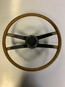 Vintage 1968 Porsche Wood Steering Wheel W Hockey Puck Center 6 68