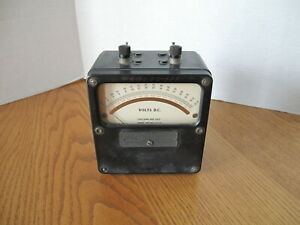 Vintage Weston Electrical Steam Punk Volts D c Meter Model 430 Works