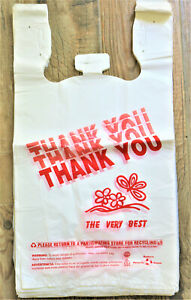 T shirt Bags 11 5 X 6 5 X 21 5 Heavy Duty 17 Mic plastic Shopping Bags