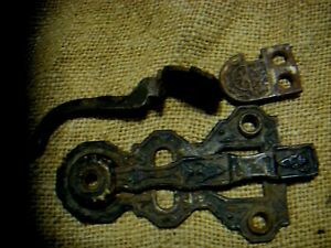 Eastlake Cupboard Lift Up Latch Parts Cast Iron Hardware Ornate Victorian Door