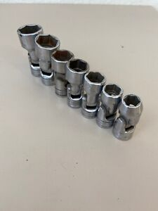 Snap on 207fu 7pc 3 8 Dr Sae 6pt Swivel Socket Set see Ad Info Free Ship