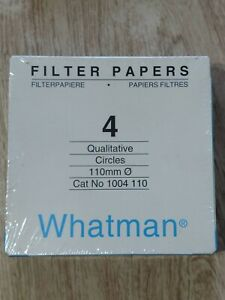 Whatman Filter Papers Grade 4 110mm Circles Sealed 1004 110