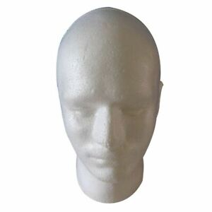 Male Wig Display Cosmetology Mannequin Head Stand Model Foam White B5e2