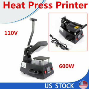 110v Heat Press Machine Digital Tshirt Mug Hat Cap Baseball Transfer Sublimation