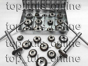 34x Valve Seat Cutter Set High Carbon Steel 21 Ctr 8 Stems 2 Arbr Rods