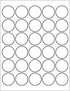 10 Sheets 300 Labels Round 1 5 Inch Circle Labels White Matte Finish