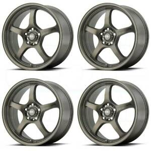 4 new 17 Motegi Mr131 Wheels 17x7 5x100 45 Matte Bronze Rims