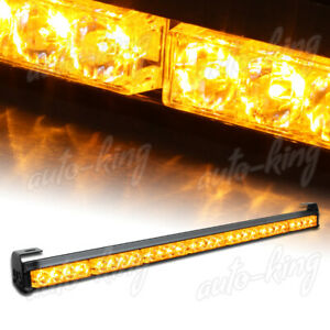 31 5 Amber Led Traffic Advisor Emergency Warn Flash Strobe Light Bar Universal