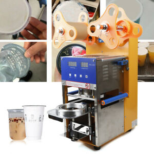 Business Use 110v Manual auto Cup Sealing Machine Drink Tea Coffee Cup Sealer