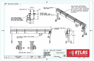 Inline Conveyor Table Top Belt 15 L X 12 W Continuous Or Indexing