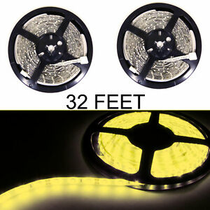10m 300 Led Flexible Tape Strip Smd Waterproof Yellow 5050 Led Strip Light 12v