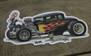 1931 Ford Coupe Sticker Hot Rod Keith Weesner Art Decal Scta Rat 30 Vtg Model A