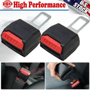 2x Universal Car Buckle Safety Seat Belt Buckle Extension Alarm Stopper Extender