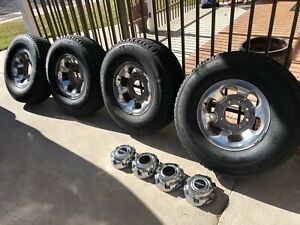 4 Ford Super Duty F250 F350 Excursion Oem 16 Alloy Rims Tires 8 Lug 01 02 04