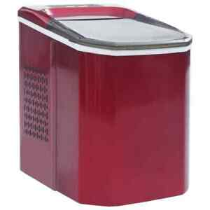Vidaxl Ice Cube Maker Red 0 37gal 33 1lbs 24h Countertop Automatic Machine