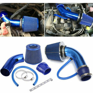 Alumimum Car Cold Air Intake Filter Induction Kit Pipe Hose System Universal