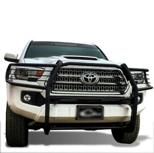 Atu Black Grille Brush Bumper Guard Block Sensor Fit 16 20 Toyota Tacoma