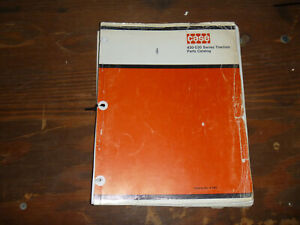 Case 430 530 Agricultural Utility Tractors Parts Catalog Manual Prior To 8262800