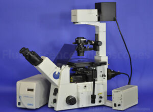 Olympus Ix71 Inverted Dic uis2 Fluorescence Microscope X cite U dicts Shift