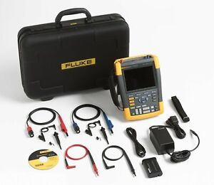 Fluke 190 202 am s 2 Channel Lcd Color Scopemeter Oscilloscope With Scc290 Kit