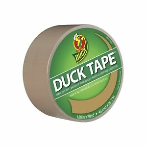 Duck Brand 283264 Color Duct Tape Beige 1 88 Inches X 20 Yards Single Roll