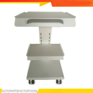 Dental Mobile Trolley Medical Cart Salon Equipment Three Layers With Foot Brakes