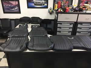 2002 Ceta Collector Edition Trans Am Ebony Black Real Leather Seat Covers New