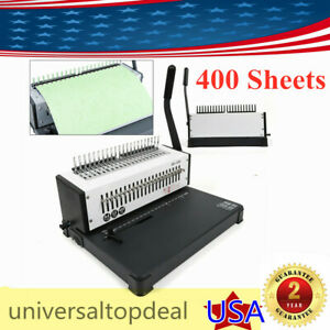 A4 21 Hole Punch Paper Binding Machine 400 Sheets Binding Punching Maker Us