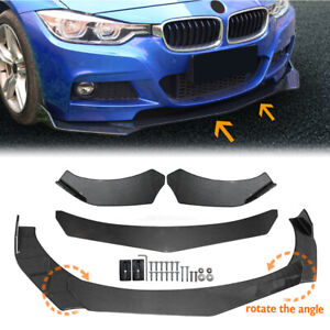 Universal Car Carbon Fiber Look Front Bumper Lip Chin Spoiler Splitter Body Kit