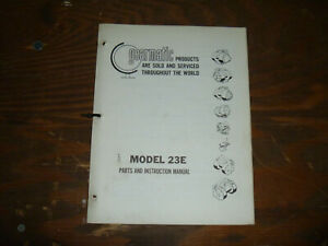 Gearmatic 23e Winch Parts Catalog Owner Operator Maintenance Manual User Guide