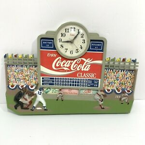 Vintage Coca Cola Clock Baseball Stadium Score Board Made in USA