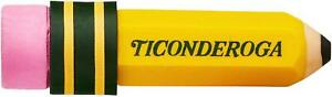 Ticonderoga Erasers Pencil Shaped Yellow 36 pack 38936