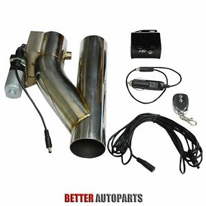 2 5 Electric Exhaust Downpipe Cutout E Cut Out Valve Controller Remote Kit