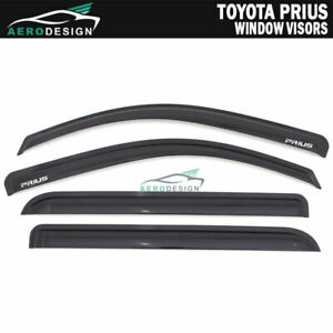 For 12 18 Toyota Prius V Smoke Acrylic Window Visors Rain Vent Tape on Sun Guard