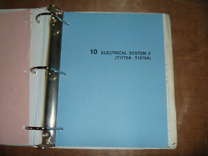 Kubota T1770a T1870a Tractor Lawn Garden Electrical Wiring Diagram Manual