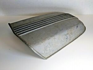 Vintage Finned Cal Custom Aluminum Hood Scoop 10 10 32 Ford Blower Ratrod