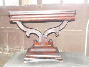 Outstanding Period Empire Game Card Table Flame Mahogany
