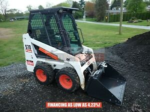 2015 Bobcat S70 Skid Steer Loader Erops Heat Aux Hydraulics 381 Hrs 23 5 Hp