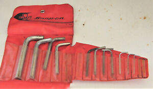 Snap On Tool Set Allen Wrenches C 154 Made In Usa