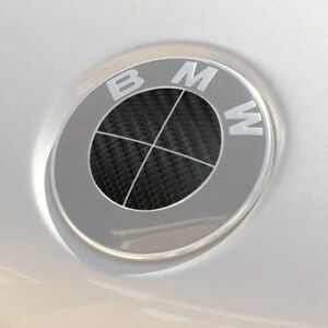 Bmw Emblem Logo Overlay Decal Roundels For 3 25 Emblems black Carbon Fiber