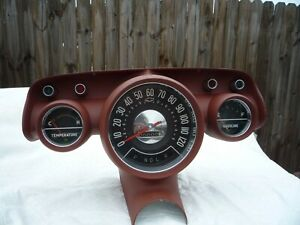 57 Chevrolet Instrument Cluster With Speedometer And Gauges