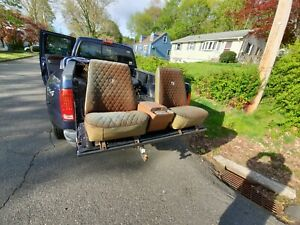 73 76 Chevy Truck Low Back Bucket Seats And Console Very Rare C10 C20 C30 K10