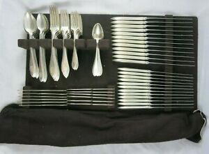 Towle Lafayette 1905 Sterling Silver Flatware Set For 12 Drawer Tray 108 Pcs Bag